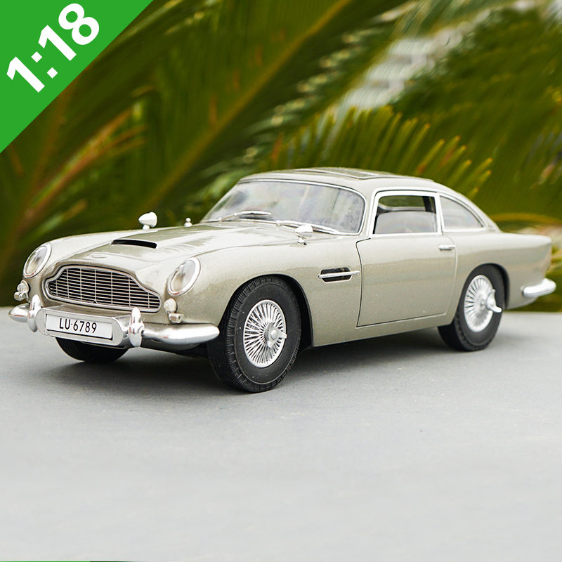 1:18 Scale Aston Martin DB5 007 The Movie Version Alloy Car Diecast Model Toy For Gift Collection Boy Toys Free Shipping