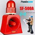Микроволновый датчик сигнализации SF-500A беспроводной промышленный звуковой и световой сигнализации устройство светодиодная вспышка маячо...
