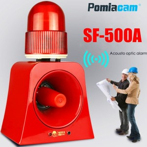 Alarma de Sensor de microondas SF-500A dispositivo de alarma de luz y sonido Industrial inalámbrico, Flash LED, baliza luminosa, sirena de sonido con puerto USB