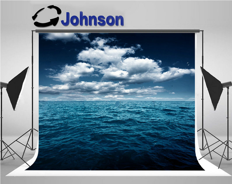 sea ocean clouds night backdrops Vinyl cloth High quality Computer print wall background