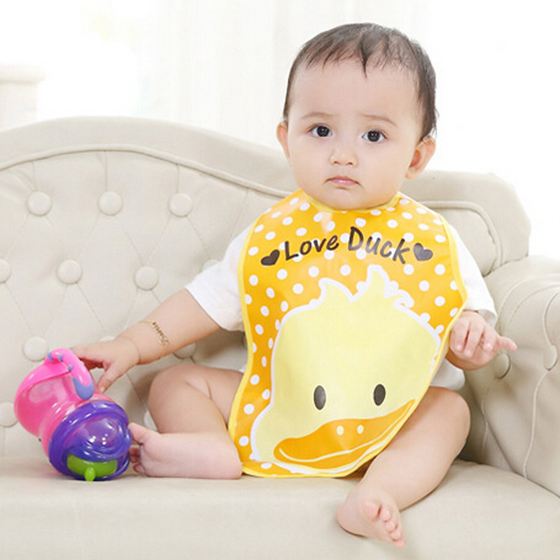 Baby Bib Waterproof Apron For Baby Cartoon Plastic Bib Children Dinner Meals Pocket All Childrens Clothes And Accessories