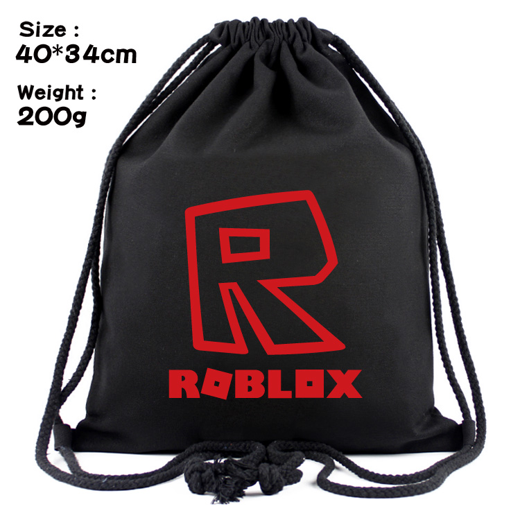 Us 498 Unisex Roblox Drawstring Bags Black Canvas Draw String Bag Shoulder Bag Backpack On Aliexpresscom Alibaba Group - roblox black hoodie strings