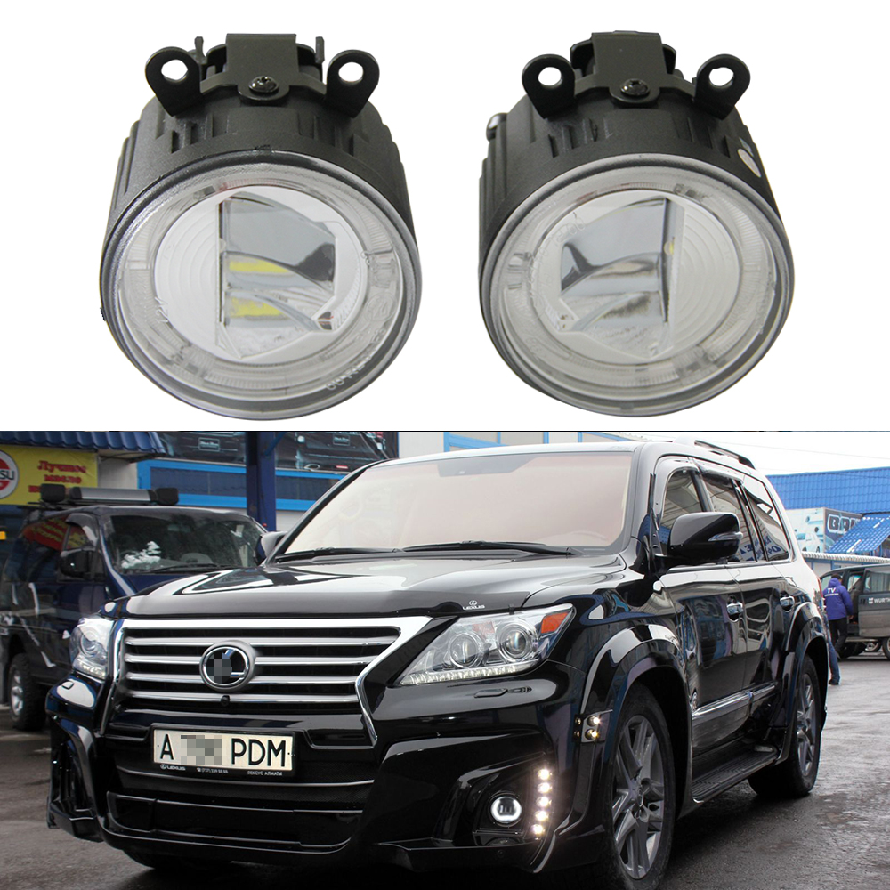 2x Front LED fog lights Lamps For Lexus IS II 10/2005 LX570 11/2007 RX 04/2009 Drl Led Daytime Running Light Lamp Car styling for opel astra g box f70 1999 2005 former car styling led daytime running lights modified yellow glass
