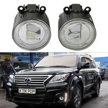цена на 2x Front LED fog lights Lamps For Lexus IS II 10/2005 LX570 11/2007 RX 04/2009 Drl Led Daytime Running Light Lamp Car styling