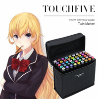 TOUCHFIVE 30 40 60 80 Color Painting Manga Art Marker Pen Dual Headed Artist Sketch Oily
