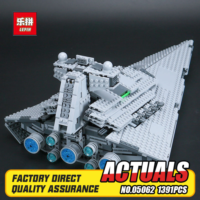 New Lepin 05062 1359pcs Genuine Star War Series The Imperial Star Destroyer Set 75055 Building Blocks Bricks Educational Toys lepin 05028 3208pcs star wars building blocks imperial star destroyer model action bricks toys compatible legoed 75055