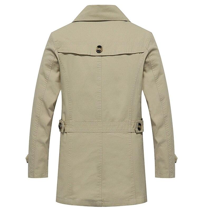 Mens Trench Coat Fashion Designer Autumn Slim Brand Mens Jacket Cotton Windbreaker Coats Male Size L-5XL