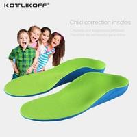 Детские ортопедические стельки для детской обуви плоская поддержка свода стопы ортопедические подушки коррекция уход за здоровьем ног сте...