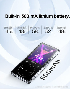Image 5 - Ruizu D16 8G métal Bluetooth lecteur MP3 haut parleur intégré avec radio FM enregistreur vocal ebook lecteur de musique vidéo Portable