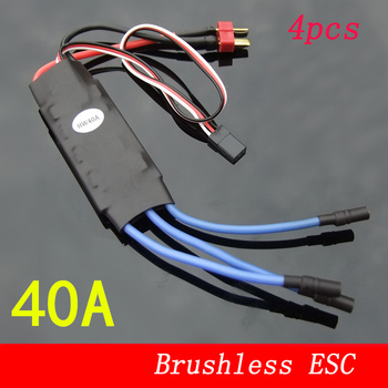 4pcs 40A Brushless ESC High Speed Motor Electronic Speed Controller BEC 5V 2A fr RC Fixed-wing Quadcopter Airplane Speed Control