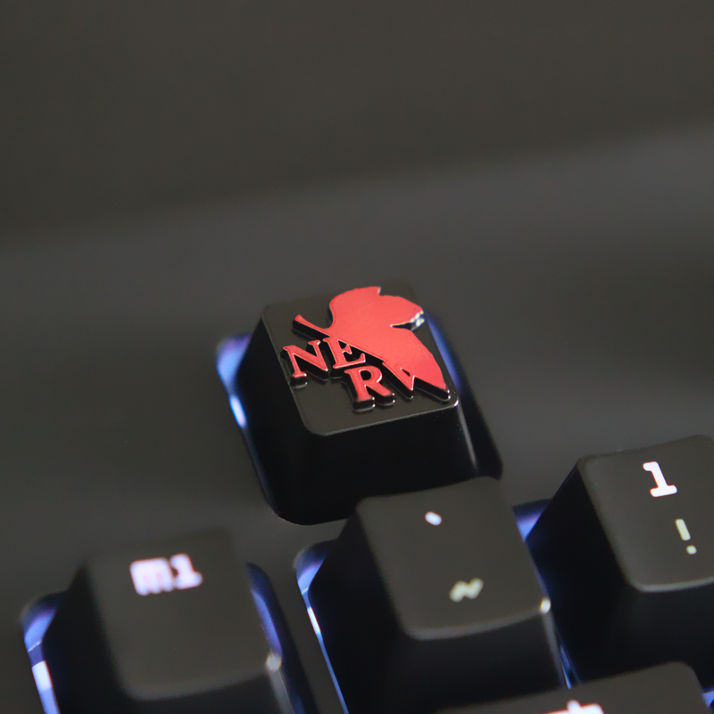 Customized embossed zinc alloy keycap for game mechanical keyboard high end unique DIY for A in Mice Keyboards Accessories from Computer Office
