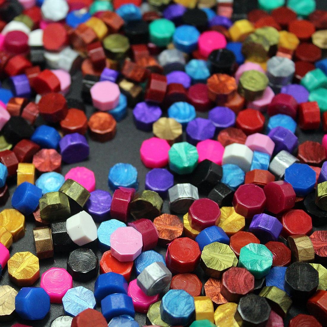 Good 100pcs/lot vintage sealing wax tablet pill beads granule/grain/ for envelope wedding Wax seal ancient sealing wax
