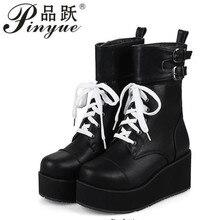 efa2ffe2bd86a Rock Punk Gothic buty damskie buty platformy pnącza buty na koturnie z  wysokim obcasem nowe buty