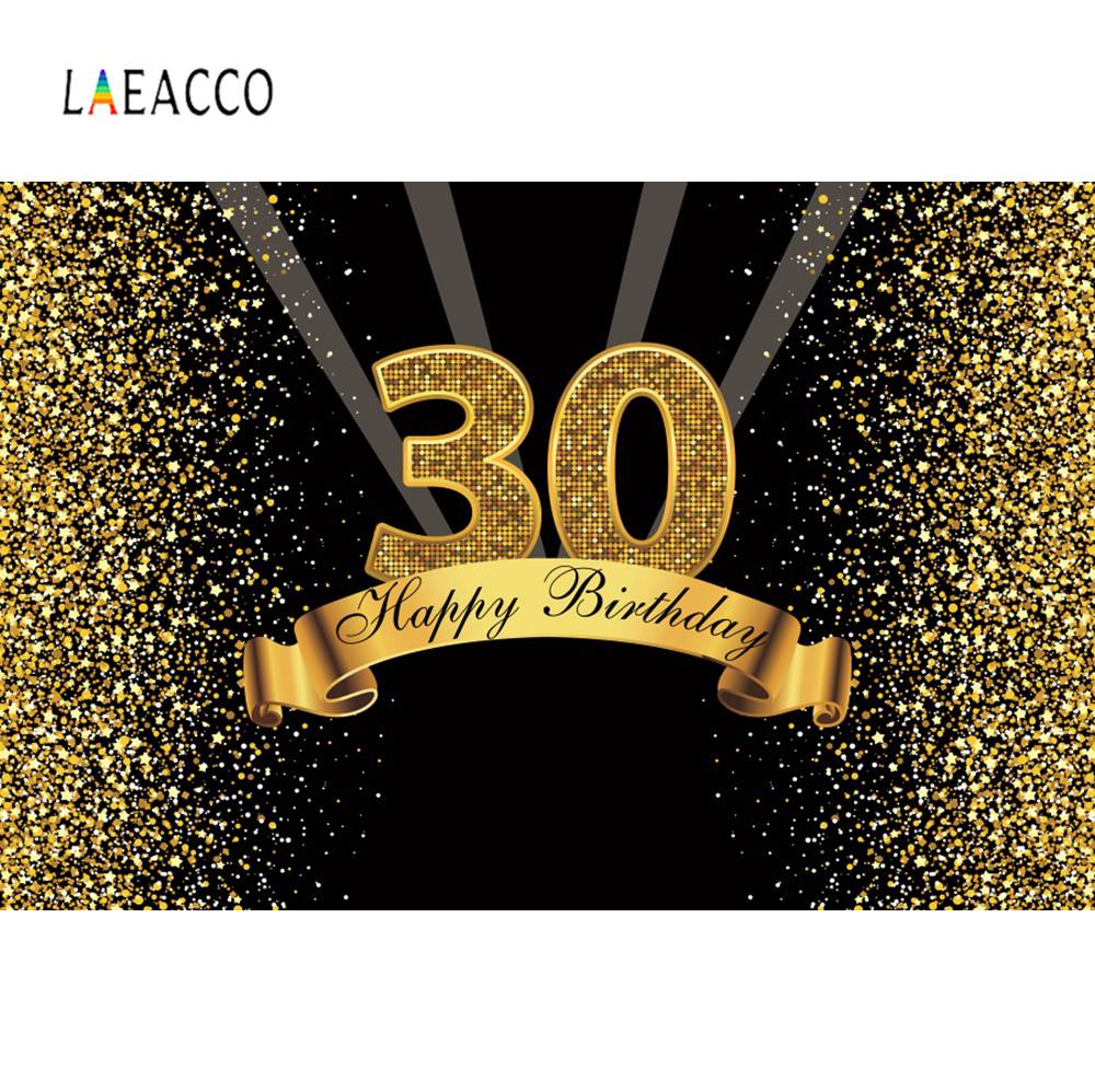 Happy 30th <font><b>40th</b></font> 50th 60th <font><b>Birthday</b></font> Party Gold Dot Celebration Poster Portrait Photography <font><b>Backdrops</b></font> Photo Backgrounds Photocall image
