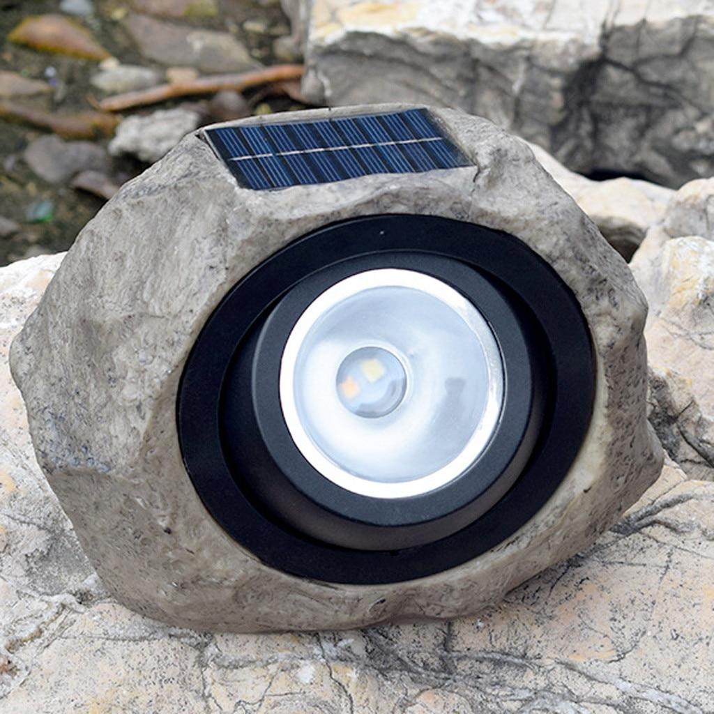 solar garden solar lamp solar light Large Outdoor Garden LED Solar Decorative Rock Stone Spot Lights Lamp Yard Dropshipping30