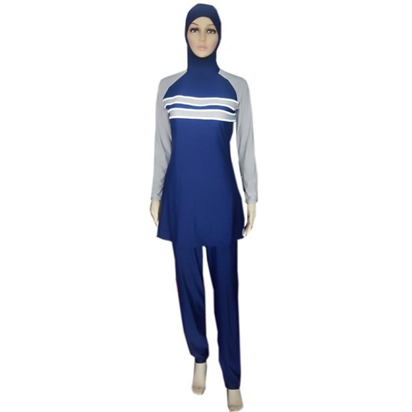 Mother & Kids Active Summer Modesty Muslim Swimwear Islamic Swimsuit For Women Hijab Swimwear Full Cover Swimming Beachwear Swim Suit High Quality
