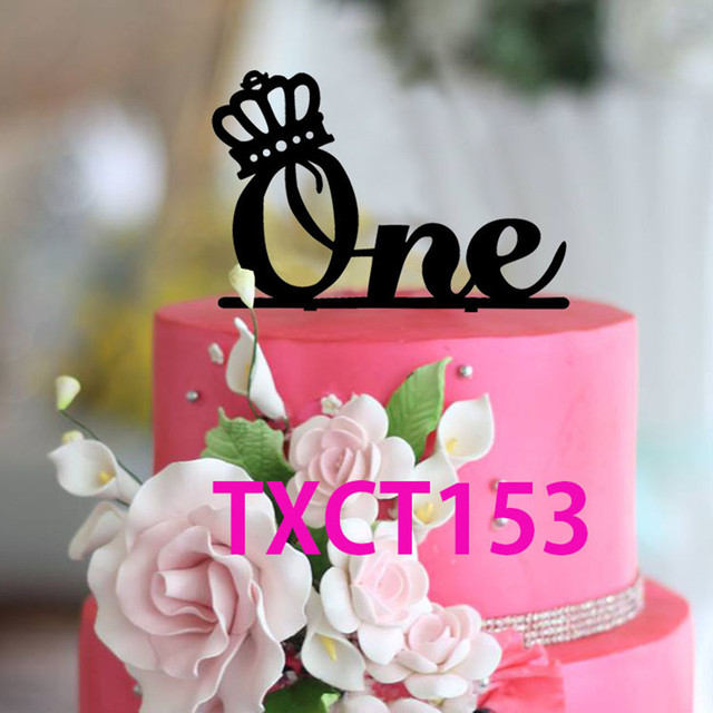 cake toppers wedding anniversary cake topper one year baby birthday party cake decoration. Black Bedroom Furniture Sets. Home Design Ideas