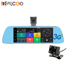 Dealcoo 8″ 3G Touch Special Car DVR Camera Mirror GPS Bluetooth 16GB Android 5.0 Dual Lens Full HD 1080p Video Recorder Dash Cam