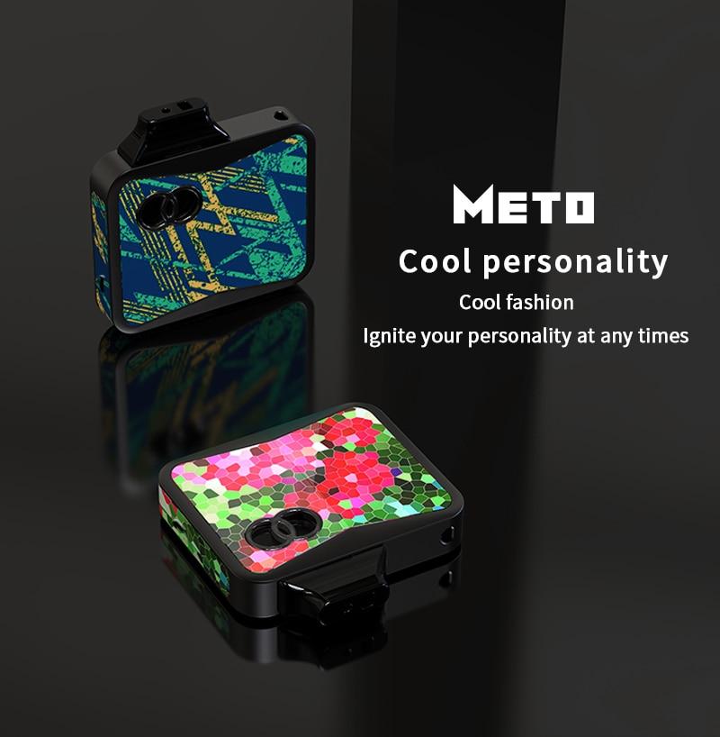 SMY METO Kit with 650mAh Battery 7 14W System Pod MOD Electronic Cigarette 1 1 4ohm Vape 1 5ml Cartridge Pod MTL Vaping Ecig in Electronic Cigarette Kits from Consumer Electronics