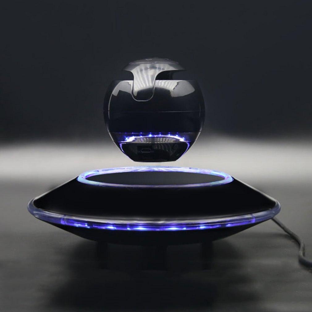 ICOCO Magnetic Floating Bluetooth Speaker Lighting Suspension Ball Shape Speaker Light Flying Saucer Base Rotary Subwoofer khf301 mini golf ball shape bluetooth v3 0 music speaker deep pink white
