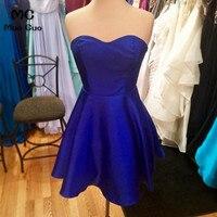 2018 Elegant Homecoming dress short Sweetheart Sleeveless Royer Blue cocktail party dress short homecoming dress