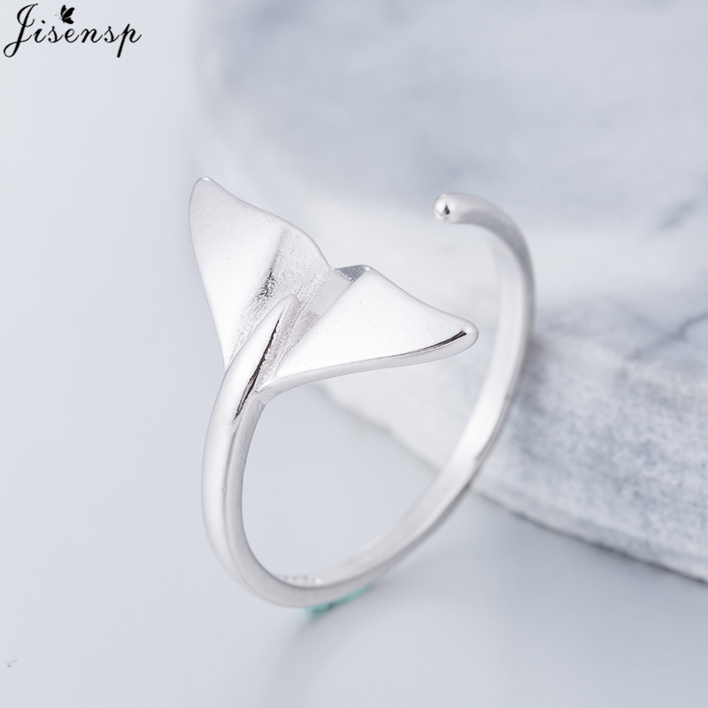 Jisensp Trendy Jewelry Cute Animal Fish Tail Finger Ring for Women/Men Gifts Fashion Anel Aneis Bague Femme Knuckle Midi Ring mariposa en plata anillo