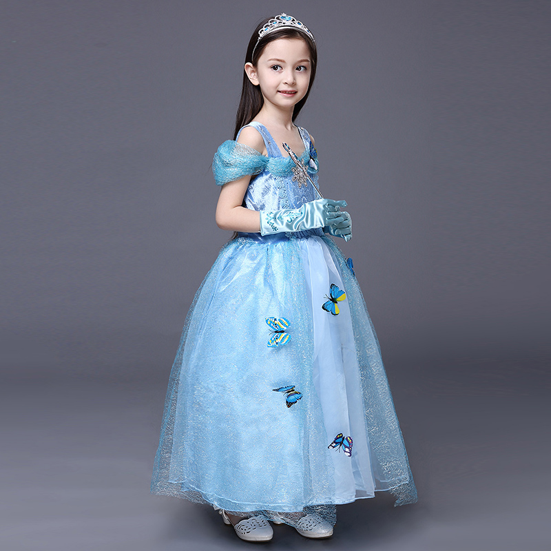 7e1a8802a2f Brand High Quality Christmas Princess Cosplay Costumes Clothing Frozen  Beauty Elsa Dress White Snow Girls' Party Dress 3Y 10Y-in Kids Costumes &  Accessories ...