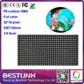 Высокое качество 7000 нит 10 шт. лот 32*16 пикселей светодиодный дисплей панели 1/4S p8 SMD rgb СВЕТОДИОДНЫЙ модуль экрана 256*128 мм топ продаж