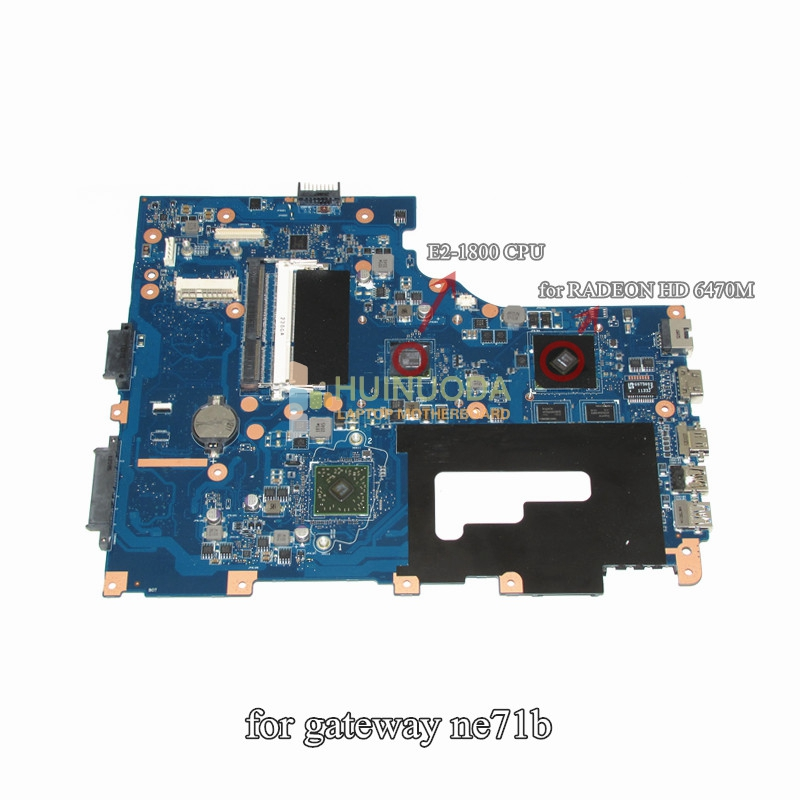 NOKOTION Main Board For Gateway NE71B NE71B06u Notebook PC Motherboard Pegatron EG70 EG70BZ DDR3 HD 6470M Discrete Graphcis eg70 eg70bz rev 2 0 for gateway ne71b ne71b06u laptop motherboard e2 1800 cpu ddr3