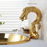 New Arrivals Fashion Polished Basin Faucett high golden plating copper Bathroom Basin Sink Faucet Mixer Faucet Water Tap