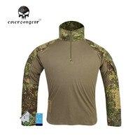 Emersongear G3 Airsoft Táctico Militar de Camo de La Caza de Combate de Algodón de Manga Larga T-shirt Camisa de Los Hombres de Ropa Deportiva Ropa EM9244
