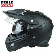 THH Helmet Mens Motorcycle Helmets Motocross Racing Helmet Off Road Motorbike Full Face Moto Cross Helmet Dual Shield Dot A2310
