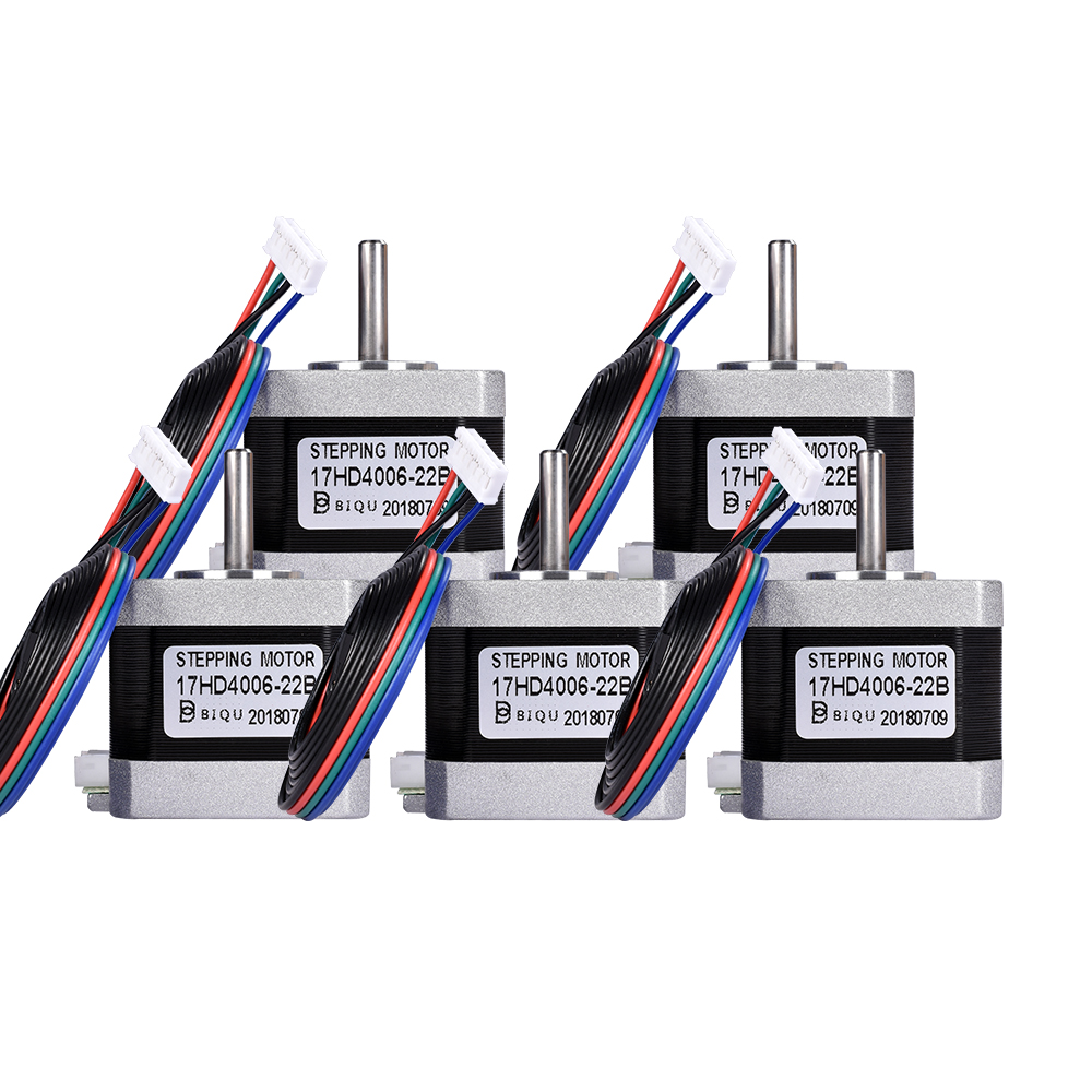 4/5PCS 4-lead Nema17 Stepper Motor 3D Printer Motor Nema 17 Stepper Motor 42 Motor 40MM 1.3A 17HD4006 42BYGH For CNC XYZ Laser