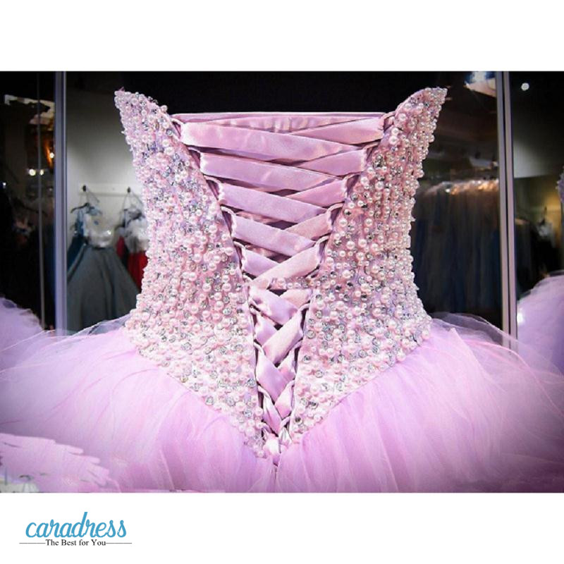 b48cdfe684b Lavender Quinceanera Dresses Ball Gown Corset Crystals Pearls Ruffles 2017  Lace Up Back Pageant Gowns For Sweet 18 Prom Dresses-in Quinceanera Dresses  from ...