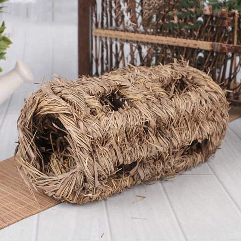 Molar Hamster Grass Net Grass Hand weaved font b Pet b font Toys Cages for Chinchilla