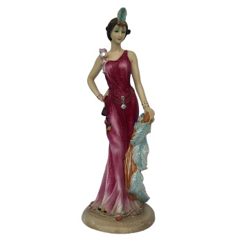 Art Deco Lady Figurine 1920s Resin Statue