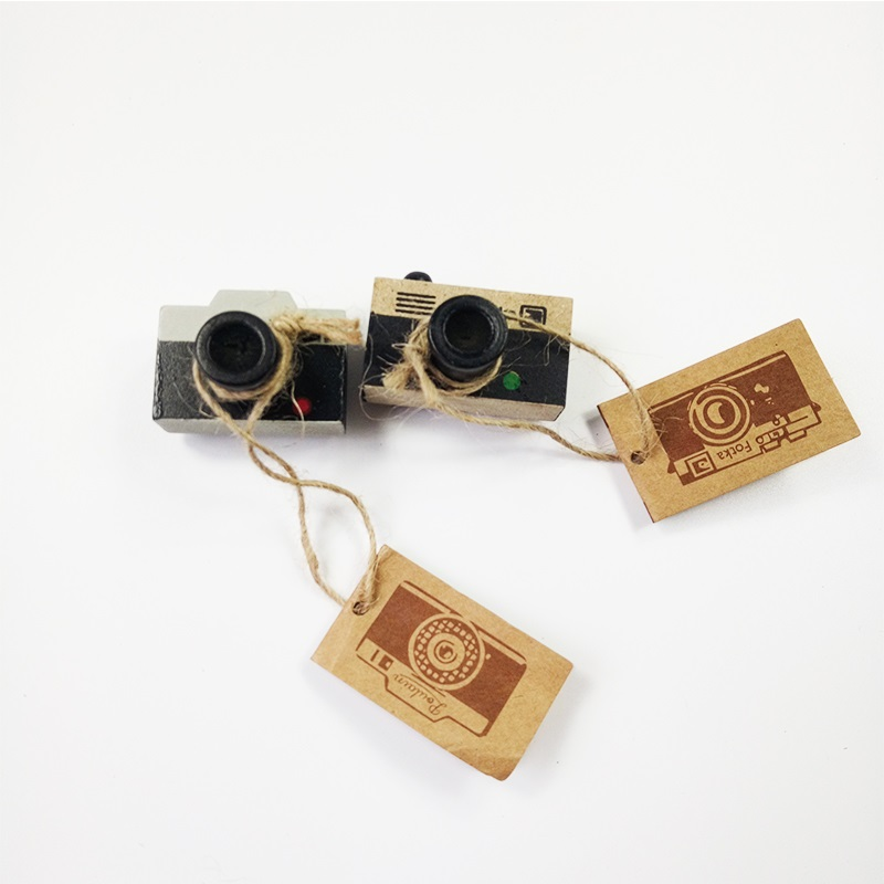 1 Pcs/pack New Wooden Clear Stamp Ancient Camera Shape Stamps For Paper Notebook Decoration Stamp