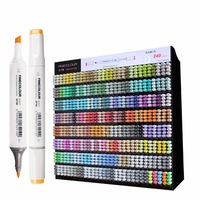 Finecolour 240 Full Colors Graphic Sketch Art Markers EF100 Twin Head Alcohol Based Drawing Brush Pen