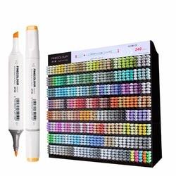 Finecolour 240 Volle Farben Grafik Skizze Kunstmarkierungen EF100 Twin Kopf Alkohol Zeichnung Pinsel Stift