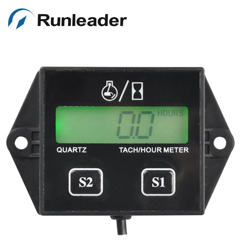 RL-HM011L digital tachometer hour meter for marine outboard boat jet boat ski pit bike lawn mower chainsaw