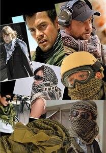 Image 5 - Voile militaire Shemagh, Hijab musulman épais, tactique multifonction, châle, écharpes arabes, Keffiyeh, mode pour femmes
