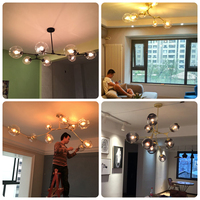 Simple Post Modern Chandeliers Personality Lindsey Living Room Restaurant Nordic Bubble Ball Lamps And Lanterns
