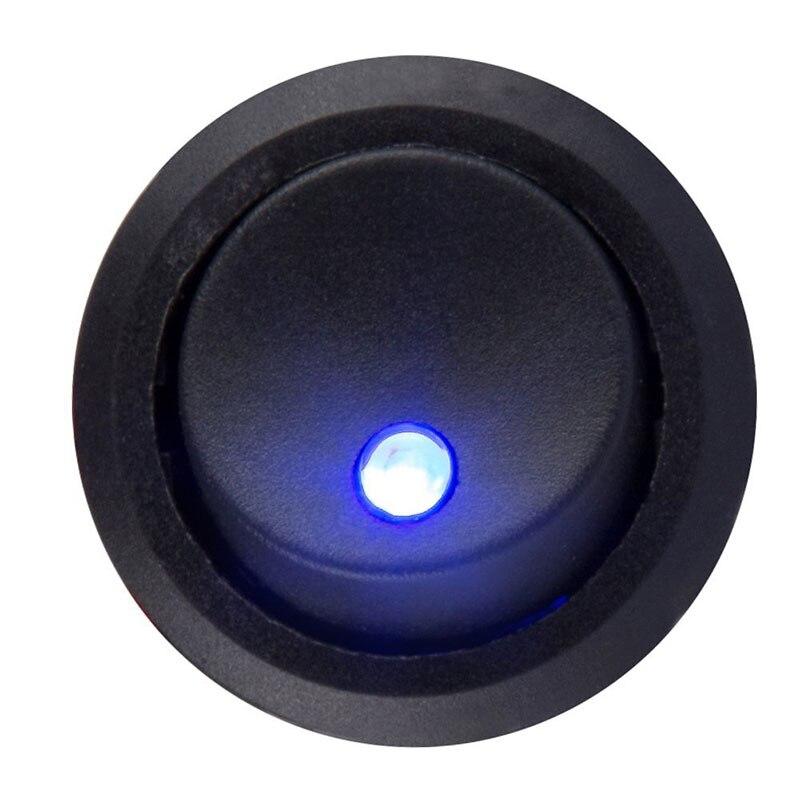 New 5Pcs/10Pcs Toggles 20A 12V Round Rocker Toggle Switch Blue LED ...