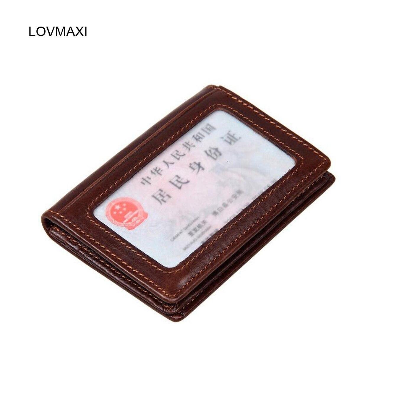 ed4bf3f5f4440 LOVMAXI Yeni 2018 Unsex Kart sahipleri 100% hakiki petrol deri sürücü  belgesi sahipleri KIMLIK tutucular küçük bozuk para cüzdanı Erkek cüzdan