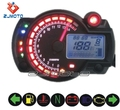 ZJMOTO Universal tachometer motorcycle meter RED/BLUE LCD Backligh Speedometer Odometer Moto bike Motorcycle instrument panel