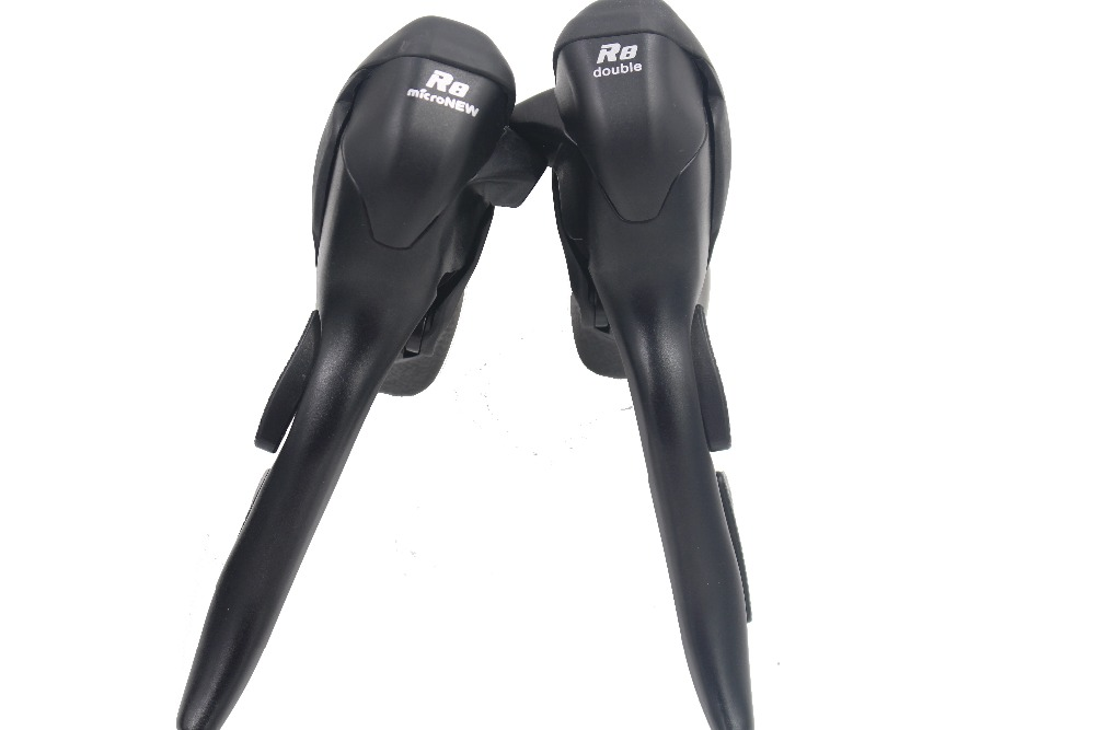 Road Bike 8 Speed STI Shifter Lever Set 2x8 3*8 Speed Left / Right / Pair Shifters Levers For Shimano Road Claris ST-2400 microshift road bike shifters 2 10 compatible for shimano 105 5700 tiagra 4600 10 speed double sti lever set