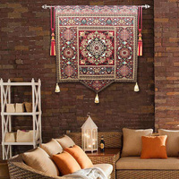 140*160 Cm Blanket Medieval Tapestry Wall Hanging Handcraft Home Decoration for Living Room Best Gift for New House