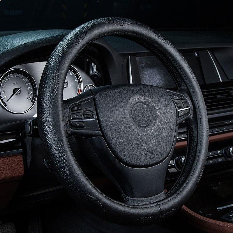 100% Wahr Auto Lenkradbezug Aus Echtem Leder Zubehör Für Lada Kalina 1 2 Largus Priora Vesta Xray, Byd F3 F6 G3 G6 L3 S6