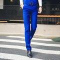 Бесплатная доставка Британский стиль 2016 мужской костюм брюки Корейских мужчин slim fit бизнес повседневные брюки для мужчин свадебные костюмы королевский синий