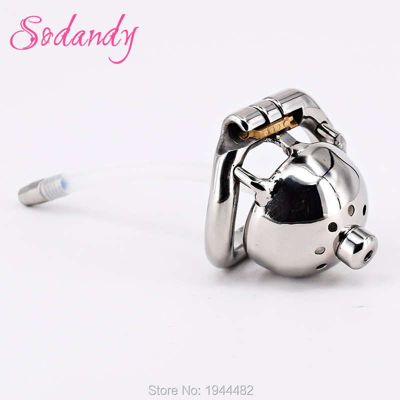 SODANDY 1.3 Super Small Male Chastity Cage Metal Penis Locked In Chastity Belt Device Men Cock Cage Urethral Stretcher Catheter sodandy male chastity devices stainless steel chastity belt penis lock cage metal with urethral stretcher catheter sex toys for